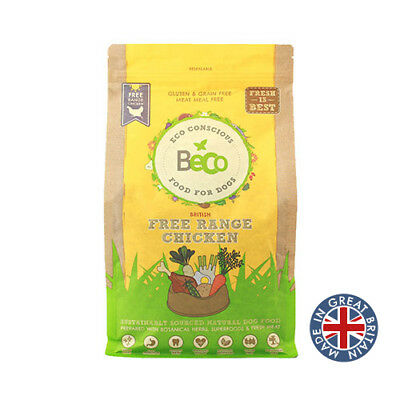 Beco Dog Food, Free Range Chicken with Carrot, 6kg Premium Service Fast Dispatch