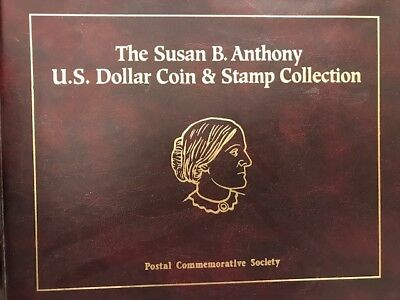 Susan B. Anthony Collection Postal Commemorative Society Coin Set & Stamps NICE!