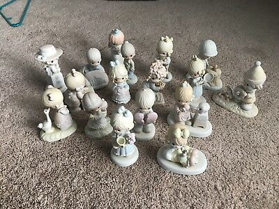 Lot of 17 precious moments figurines
