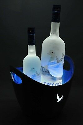 Grey Goose LCD light up Ice Bucket RARE