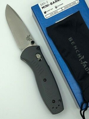 * BENCHMADE Mini-Barrage Assisted Folding Knife G10 Handle CPM-S30V Blade 585-2