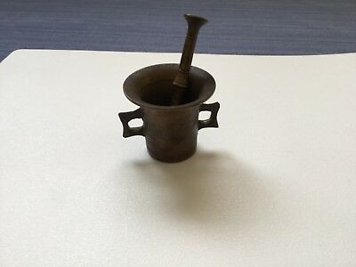 Antique Brass Apothacary Mortar & Pestle