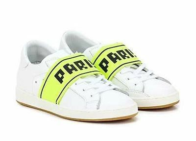 Philippe Model Sneakers White Leather Yellow Fluo Paris Size 41 Lastprice!