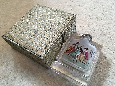 CHINESE HAND PAINTED - perfume / snuff bottle