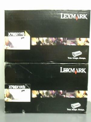 2 New Genuine LEXMARK  Extra High Yield Print Cartridges X792X1KG & X792X1YG