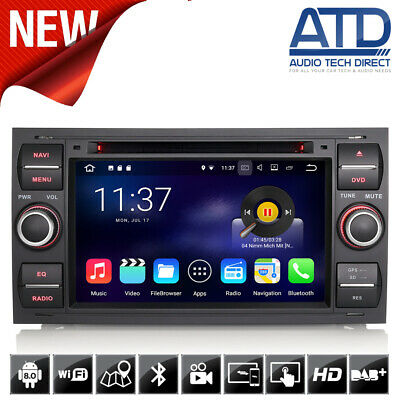"""7"""" Android 7.1 GPS Sat Nav Stereo DAB Bluetooth WiFi Radio For Ford Transit Mk7"""