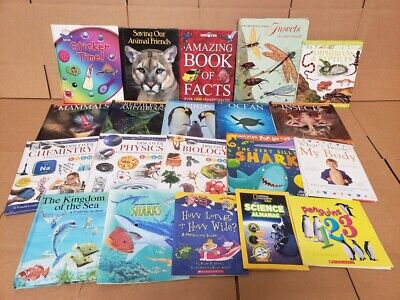 Lot of 10 Science Nature Experiment Animal Educational Learn Kid Child Books MIX