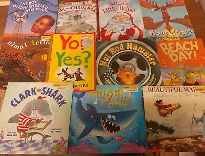 Lot of 10 Scholastic MIX Classroom Teacher Reading Large Kids UNSORTED Books K-5