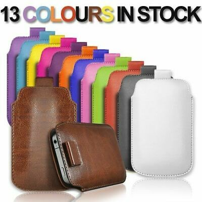 PULL TAB PU LEATHER POUCH COVER CASE *only* fits  Alba Big Button