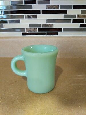 Vintage Fire King Oven Ware Jadite Slim Hot Chocolate Mug 7 Oz Restaurant Ware