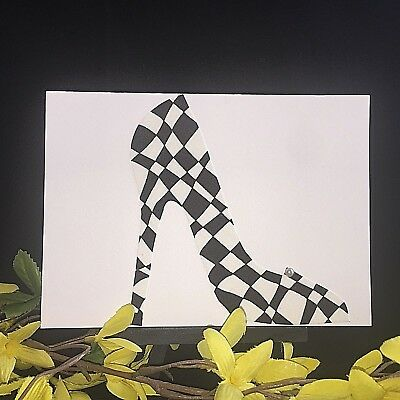 Fashion card, high heel card, birthday card, never enough shoes