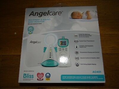Angelcare Movement And Sound Baby Monitor Ac401 Boxed With