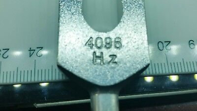 Tuning fork 4096 Hz for Healing Sound Vibration Therapy & cleansing Crystals