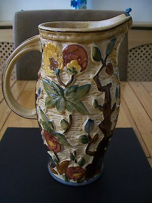 Large H.J Wood Hand Painted Jug - Indian Tree - 24cm
