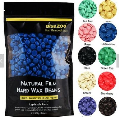 Blue Zoo Stripless Pearl Hard Film Wax Waxing Beads Beans Pellets Hair Removal