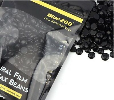 BlueZoo Wax Pallets Hair Removal brazillian Hard Wax Beans black - 250 gm