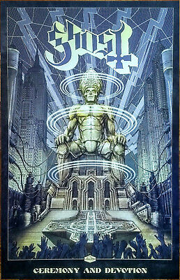 6684edbf105 GHOST Ceremony And Devotion 2018 Ltd Ed New RARE Litho Poster +FREE Metal  Poster