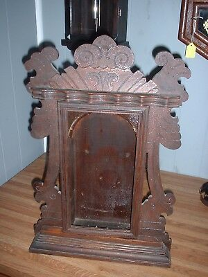 Antique Ansonia Parlor Kitchen Clock Case Only Walnut Joslyn Model Parts Repair