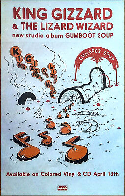 KING GIZZARD + THE LIZARD WIZARD Gumboot Soup 2018 Ltd Ed New RARE Poster!