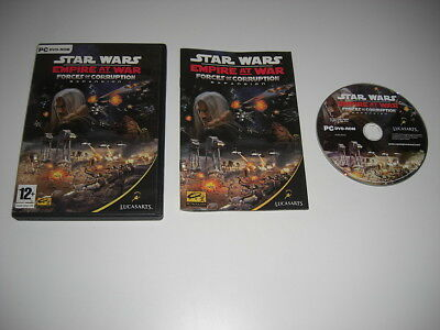 STAR WARS -  Empire At War FORCES OF CORRUPTION Pc DVD Rom Add-On Expansion Pack