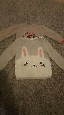 Cute Girls jumpers 12-18 months H&M and Mamas and Papas
