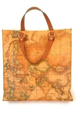 70f2dc395 New Alviero Martini prima classe geo print woman leather shoppers tote bag  large