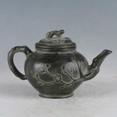Chinese Rare Bronze Plum Teapot Made During The Qianlong Period HST0012