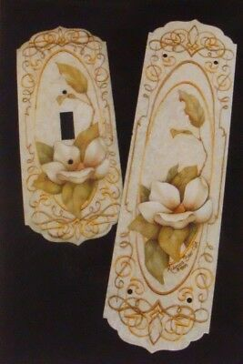 """Rebecca Baer tole painting pattern packet """"Magnolia Push Plate"""""""
