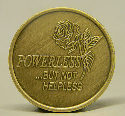 Sobriety Medallion - Bronze - Powerless But Not Helpless -Recovery Chip
