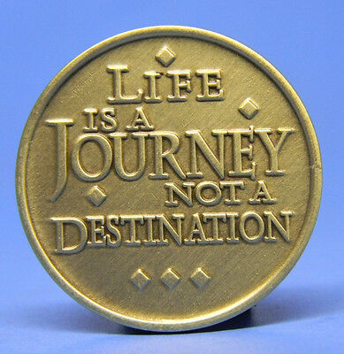 Bronze Chip - Medallion - Life Is A Journey -  Recovery - Sobriety