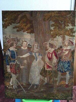 Large Antique Wool Tapestry - French 19th Century