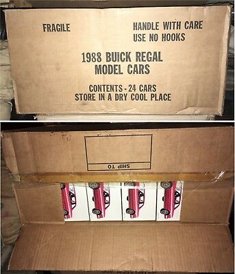 FULL CASE of 1988 Buick Regal Promo Cars, 24 Sealed Cars in Original Factory Box