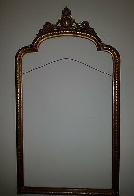 Replica 18th century engraving in gold gilt wood carved French frame1500x850 mm