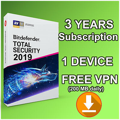 Bitdefender Total Security  3 Years Activation - 1 Device - LATEST VERSION