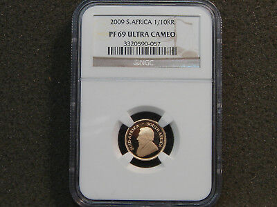 2009 South Africa 1/10 oz Gold Krugerrand NGC PF 69 ULTRA CAMEO