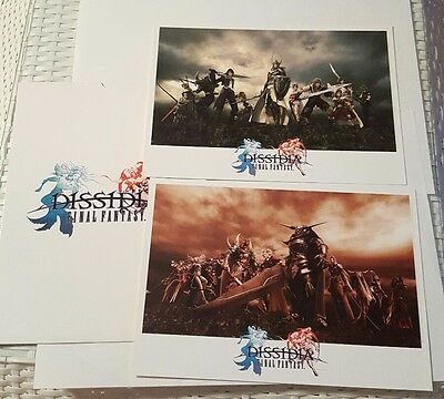 Final Fantasy Dissidia Special Edition A4 Photo cards - Square Enix Video Game