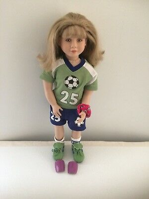 "23"" Poseable My Twinn Doll in Complete Soccer Outfit Sandy Blond Hair VGC"