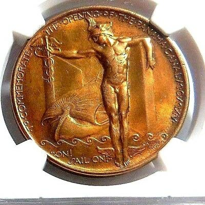 """1915 PANAMA - PCAIFIC EXPO  """" OFFICIAL MEDAL """"  HK - 400  NGC  MS-62  NO Reserve"""