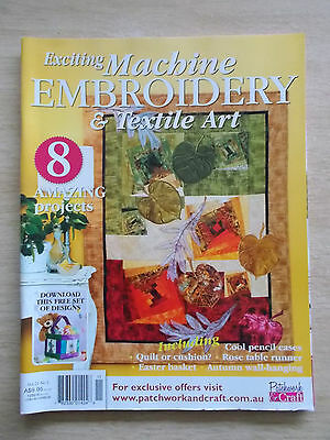 Machine Embroidery & Textile Art Vol 21 #1~Quilt~Pencil Case~Runner~Wall-Hanging