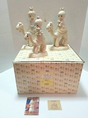Precious Moments They Followed The Star Nativity Edition Set E-5624 Excellent!!