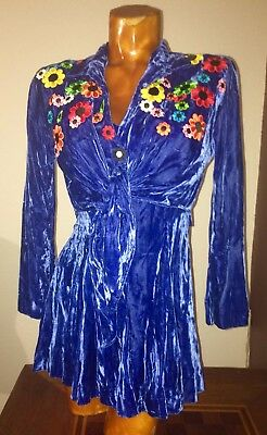 THE NANNY Tracy Nelson Screen Worn BLUE VELVET DRESS, JACKET & HAIR CLIP w/COA
