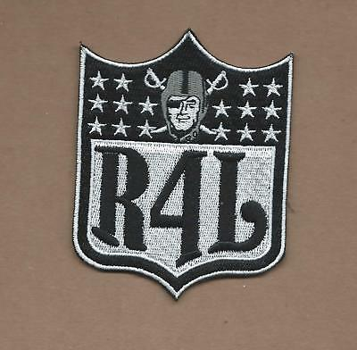 New 3 X 4 Inch Oakland Raiders R4L Shield Iron On Patch Free Shipping