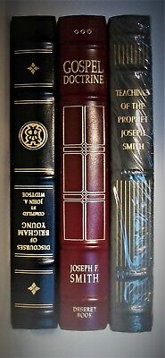 Lot of 3 LDS Leather bound books employee gifts leather bound New in boxes