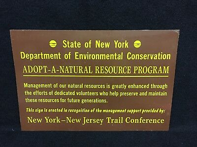 Vintage State of New York Dept of Environmental Conservation New Jersey Sign