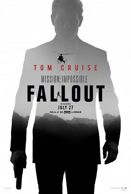 MISSION: IMPOSSIBLE FALLOUT  D/S  HUGE  4ft x 6ft  AUTHENTIC STUDIO  BUS SHELTER