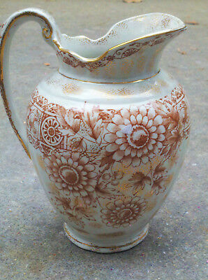 Aesthetic Movement Pitcher England Dated 1885 Pottery Reg # 27608 Antique