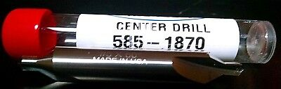 CARBIDE CENTER DRILL # 5  60 degree MADE IN USA BEST PRICE on E BAY !!  585-1870