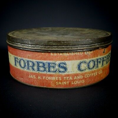 Antique Forbes Coffee Cake Box Can Jas. H. Forbes Tea & Coffee Saint Louis