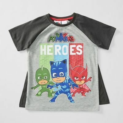 NEW PJ Masks T-Shirt With Removable Cape Kids Size 2