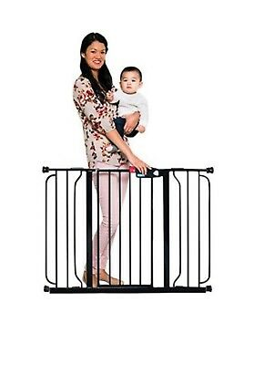 Regalo Easy Step Extra Wide, Safety Gate Pet Child Black Metal 29-52 Inch 1164EB